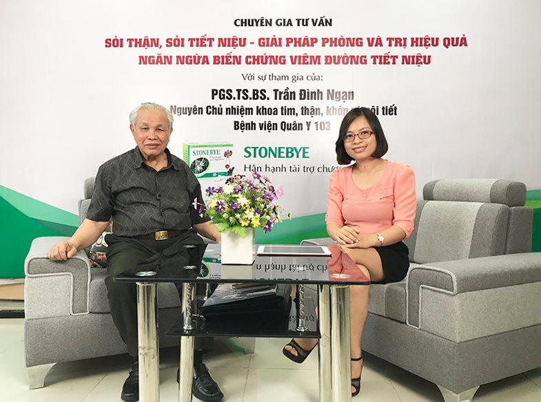Tư vấn về bệnh sỏi thận, sỏi tiết niệu với sư tham gia của PGS.TS.BS Trần Đình Ngạn